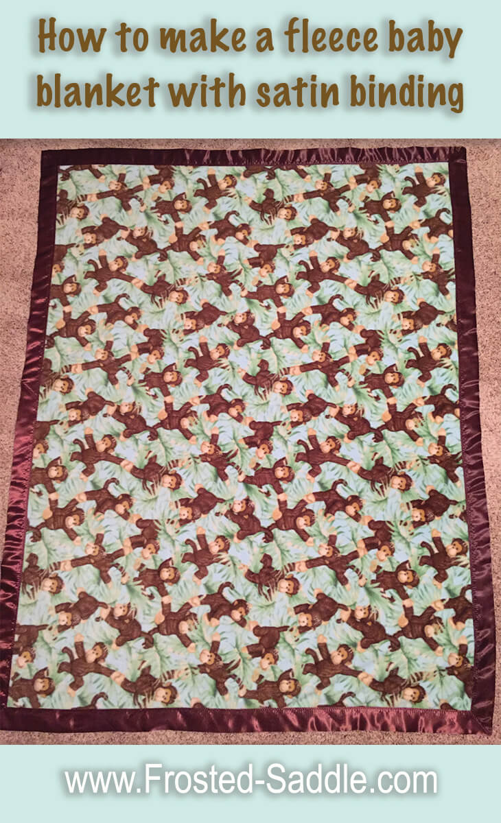 How To Make A Fleece Baby Blanket With Satin Binding Frosted Saddle
