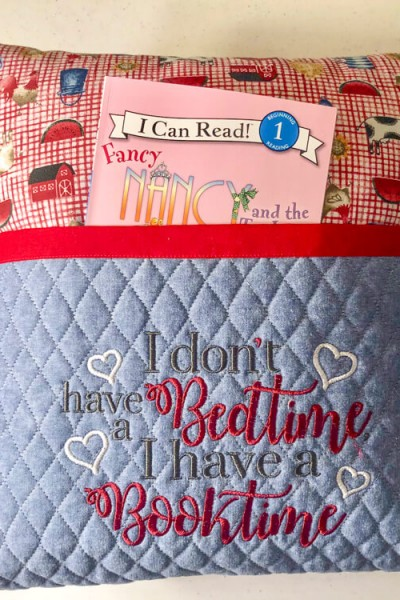 Reading Pillow-I don't have a bedtime