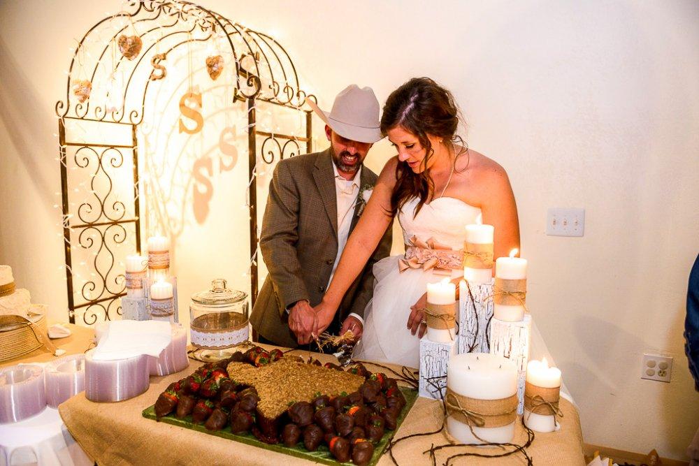 Groom cake table decor