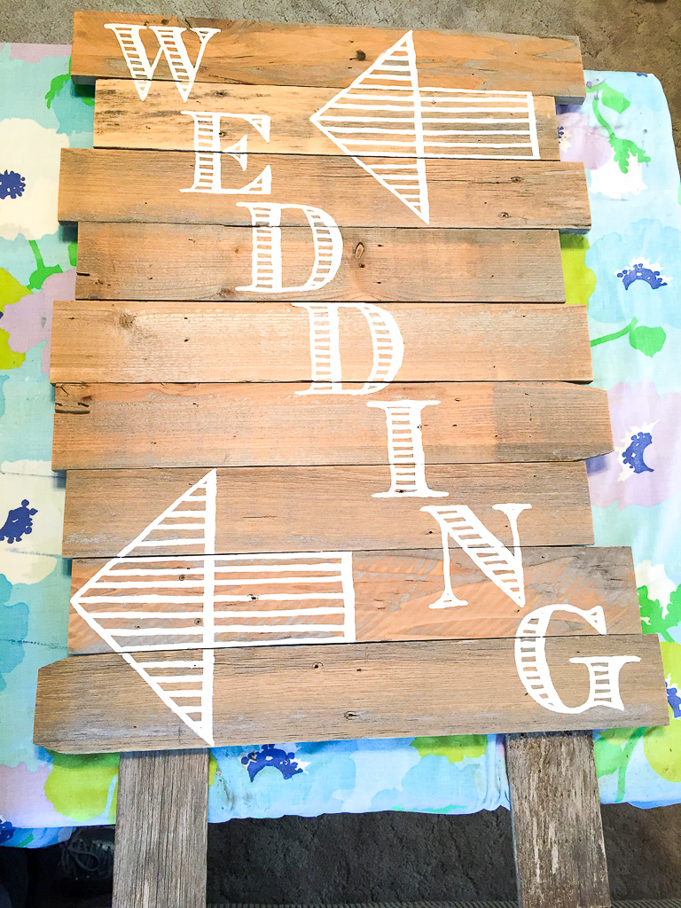 Wedding Directitons on Easel