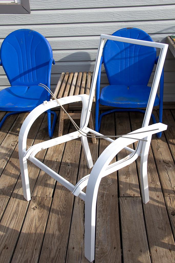 sling-chair-repair disassemble